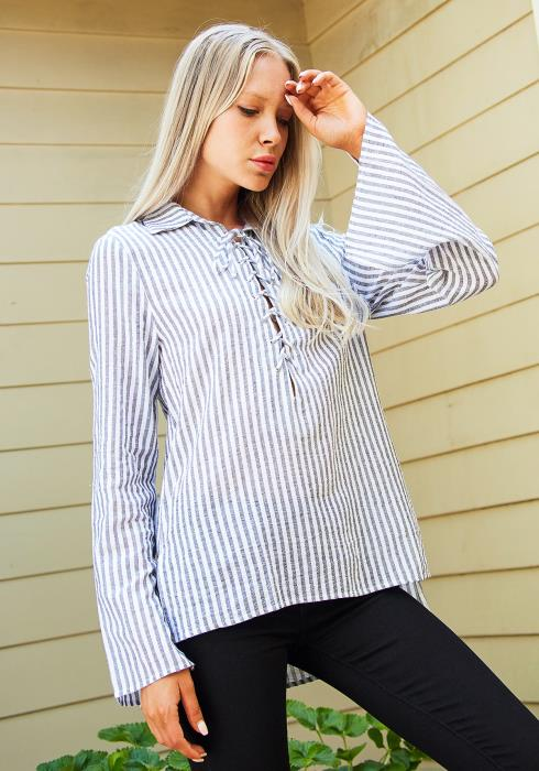 Tansy Everyday Lace Tie Shirt
