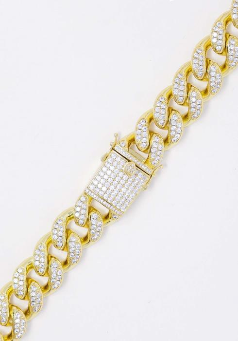 Golden Gilt - 18K Gold Plated Studded Cuban