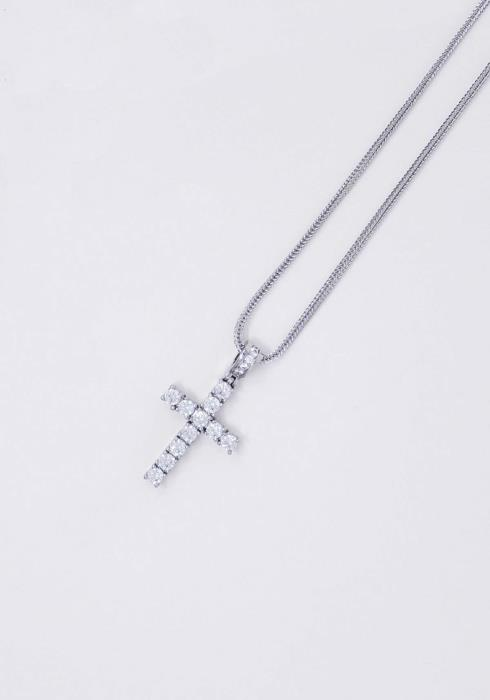 Golden Gilt Silver Cross Necklace