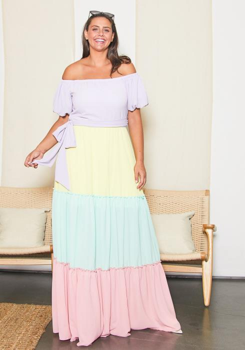 Asoph Plus Size Pastel Princess Dress