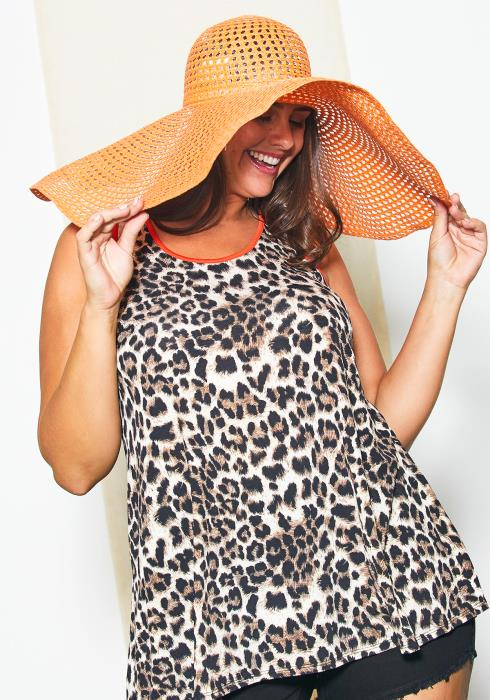 Asoph Plus Size Leopard Casual Top