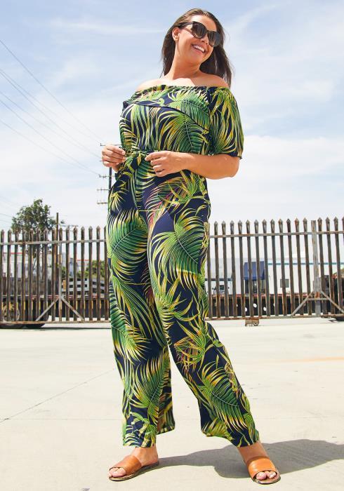 Asoph Palm Tree Jumpsuit