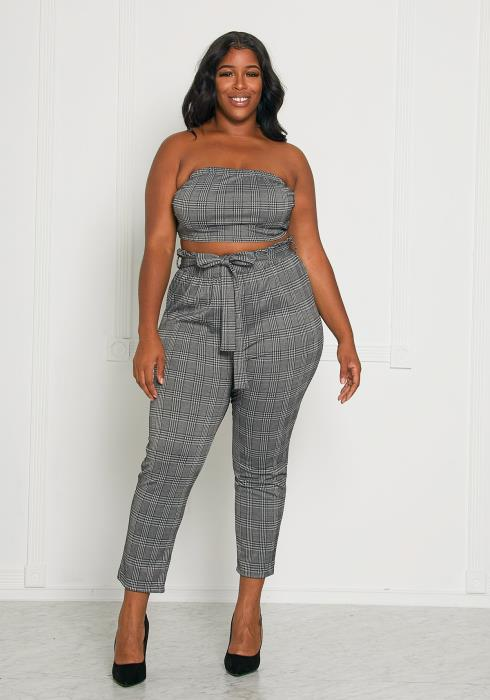 Asoph Plus Size I do What I Want Pant Set