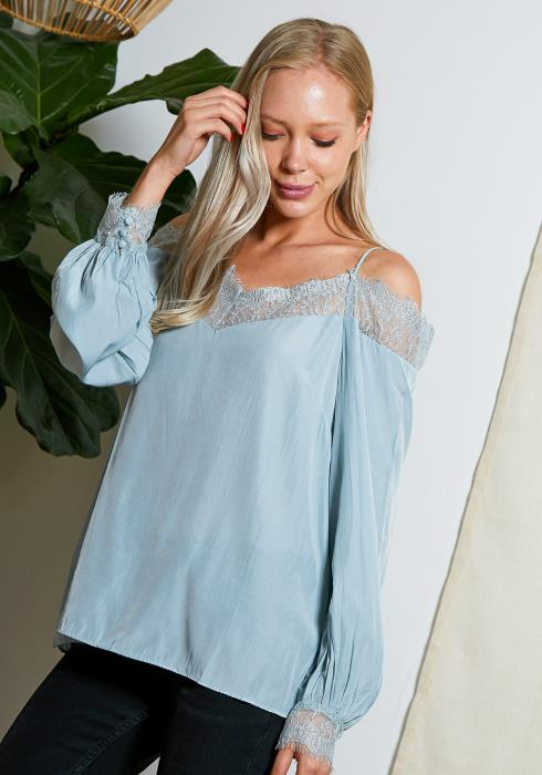 Tansy Lace Trim Daily Blouse