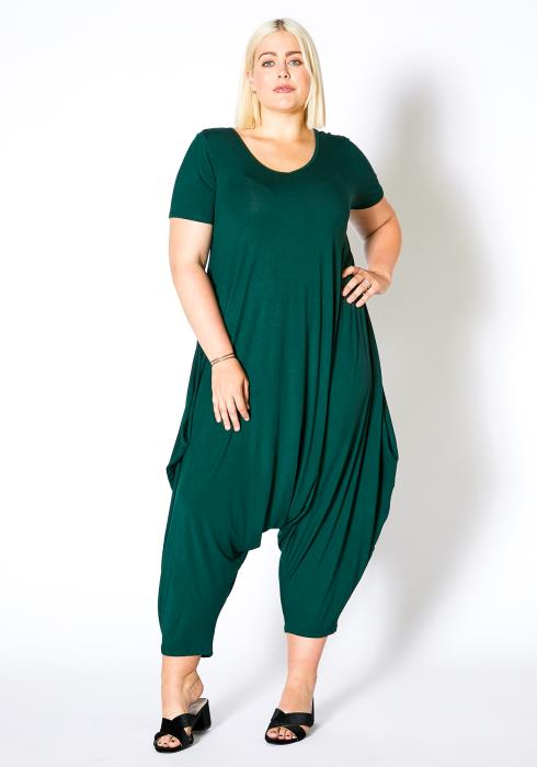Asoph Plus Size Womens Harem Jumpsuit
