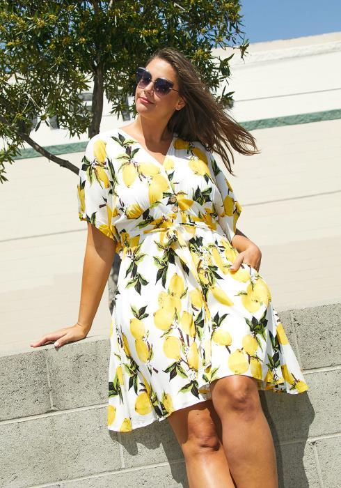 Asoph Plus Size Lemon Tree Sun Dress