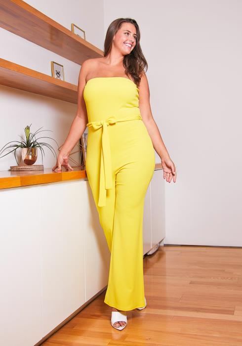 Asoph Hello Sunshine Tube Top Jumpsuit