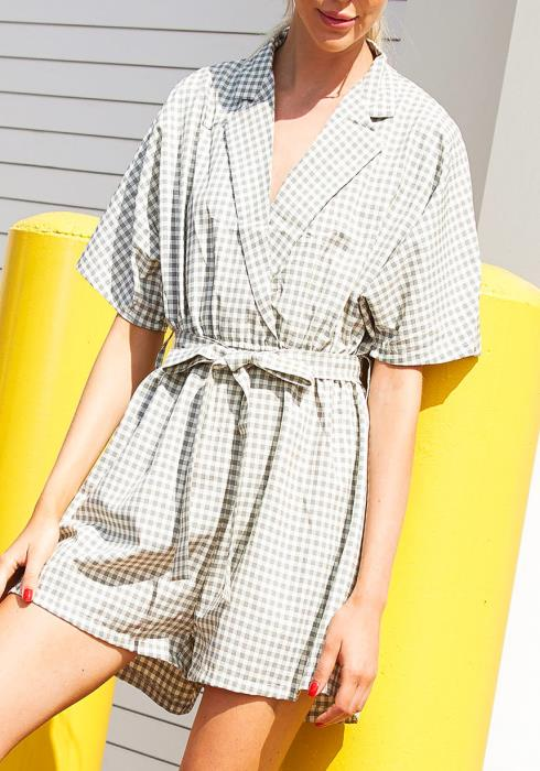Tansy Gingham Romper