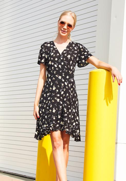 Tansy Floral Wrapped Dress
