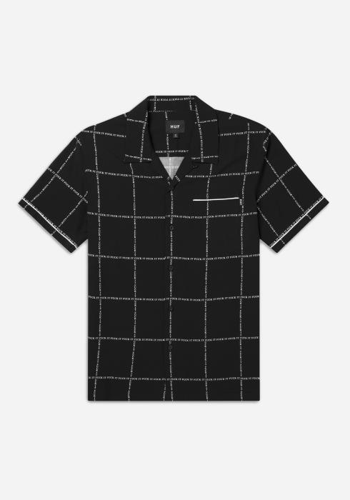 HUF FUCK IT woven shirt