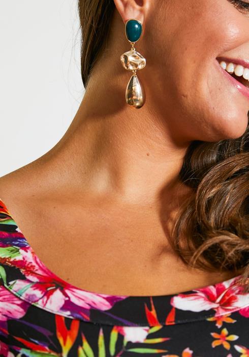 Massena Stone Drop Earrings
