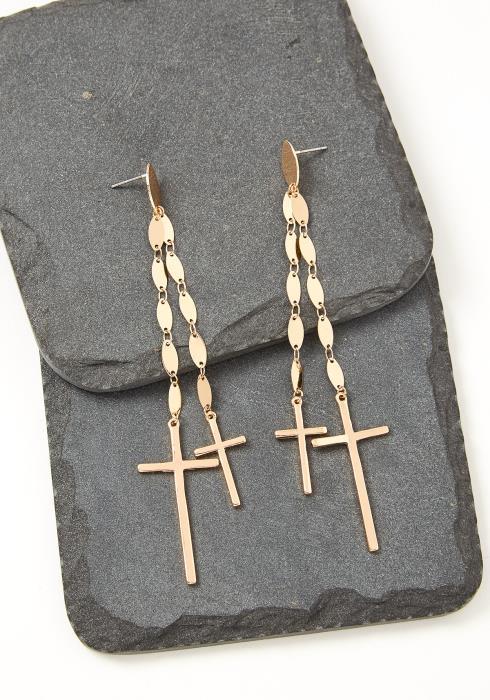 Kiana Cross Drop Earrings
