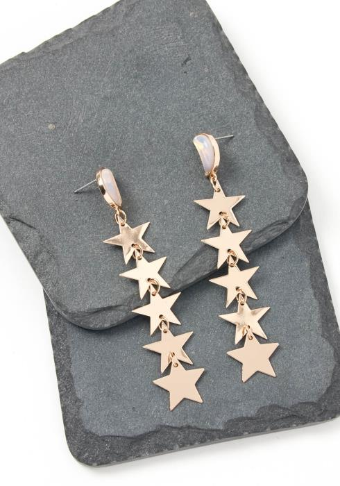 Asoph Celestial Gold Star Drop Earring