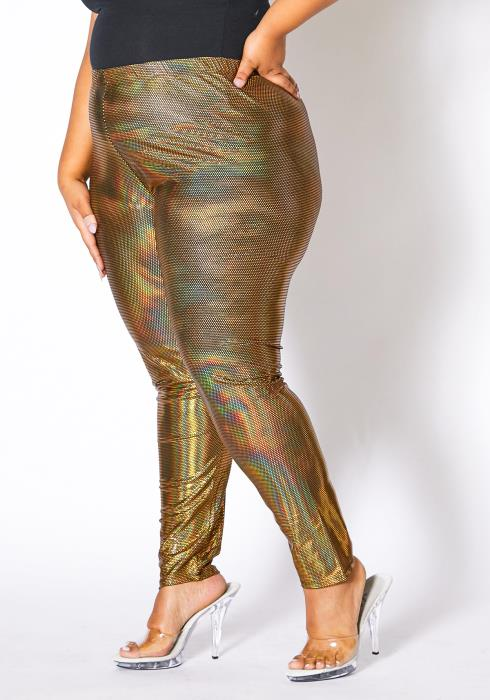 Asoph Plus Size Metallic Disco Pants