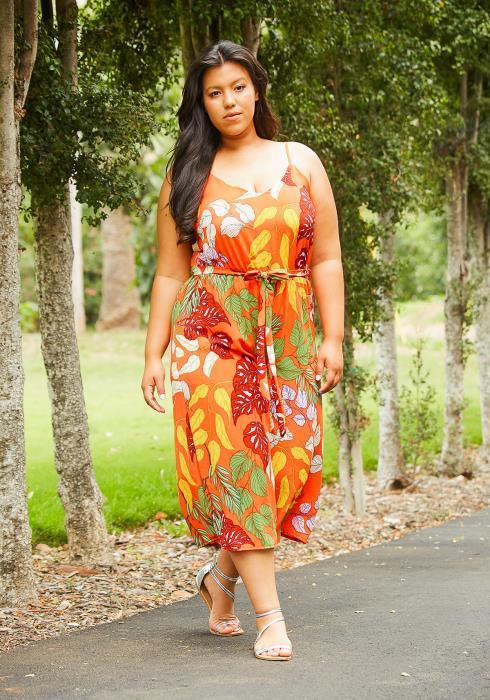 Asoph Plus Size Floral Cropped Jumsuit