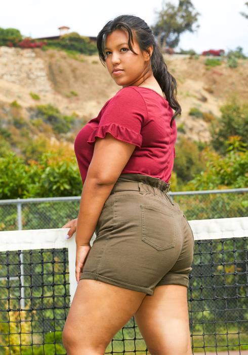 Asoph Plus Size High Waist Shorts
