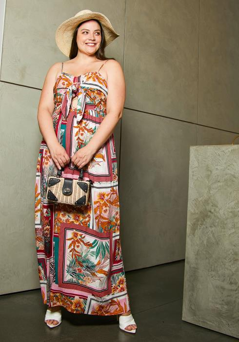 Asoph Plus Size Sahara Dessert Maxi Dress