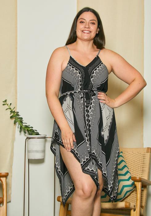 Asoph Plus Size Scarf Beach Dress