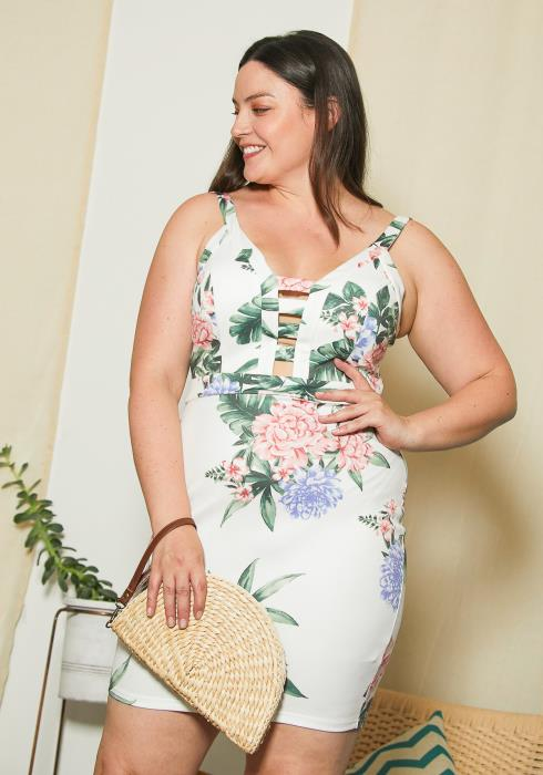 Asoph Plus Size Oriental Flora Dress