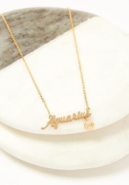 Aquarius Dainty Necklace