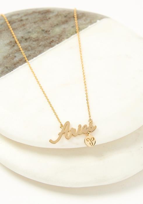 Aries Dainty Zodiac Necklace
