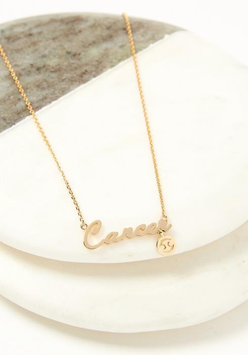 Cancer Dainty Zodiac Necklace
