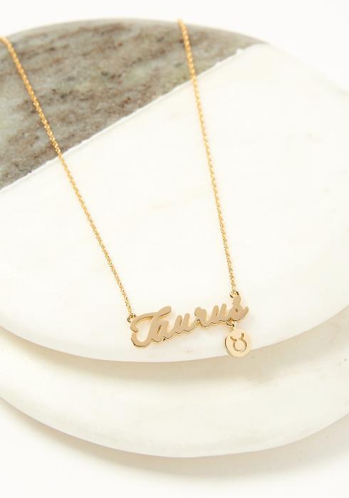 Taurus Dainty Zodiac Necklace