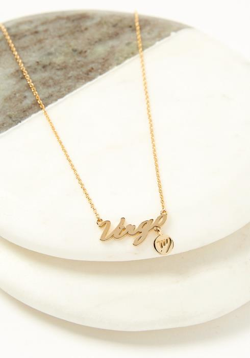 Virgo Dainty Zodiac Necklace
