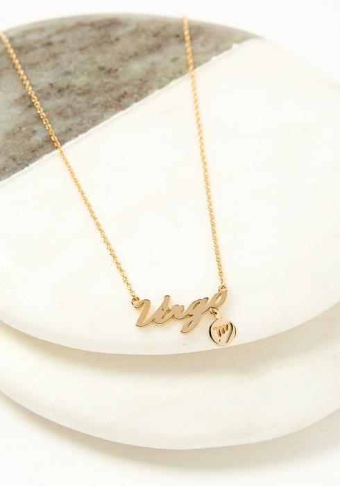 Virgo Dainty Zodiac Necklace