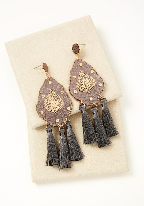 Timnath Oriental Tassel Earrings