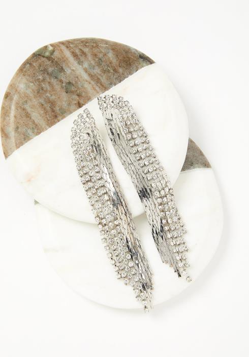 Silverstream Diamond Drop Earrings