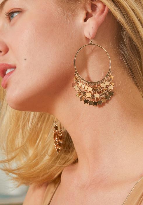 Francis Floral Hoop Earrings