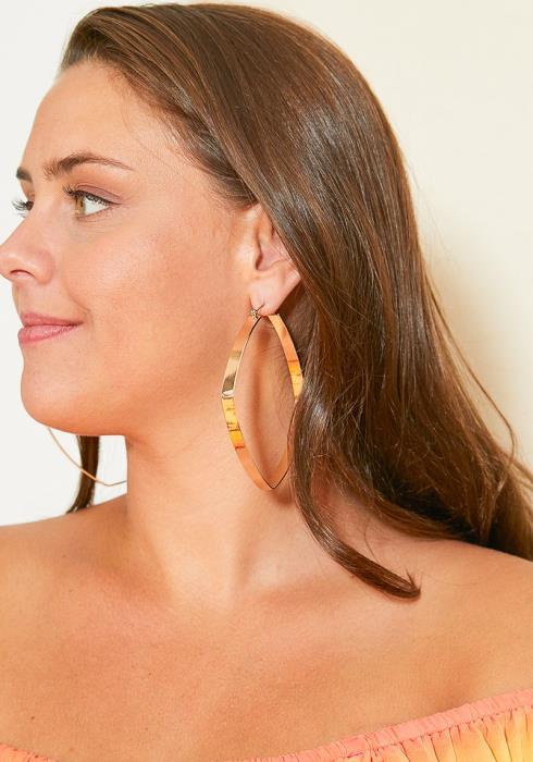 Goldenville Squared Hoop Earrings