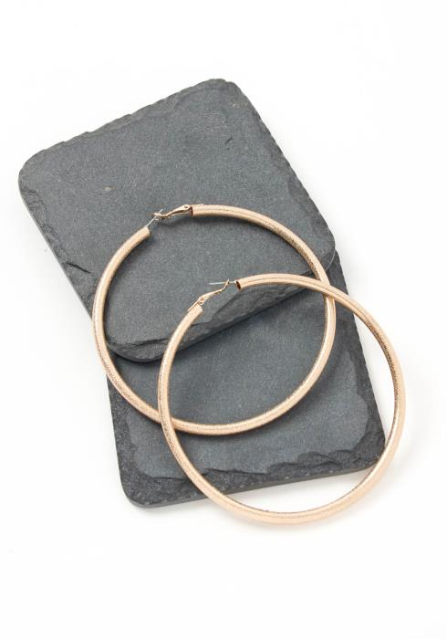 Asoph Doral Gold Coated Hoop Earring