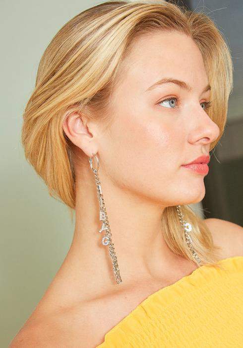 Babygirl Chain Mini Hoop Earrings