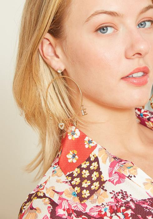 Love At First Sight Hoop Earrings