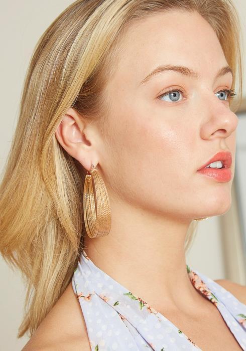 Gold Layered Hoop Earrings
