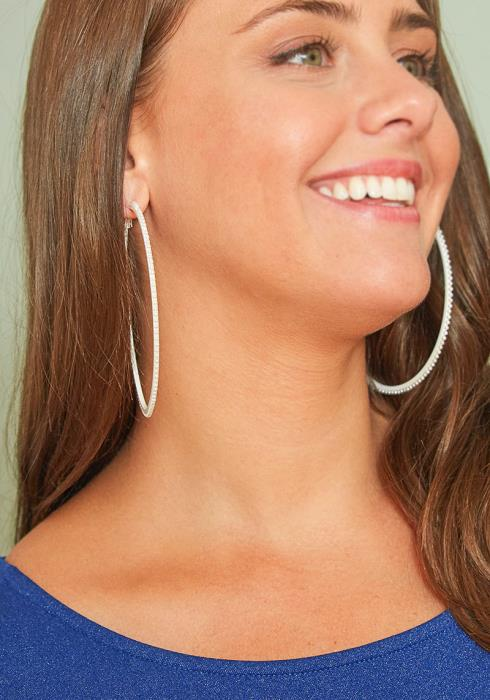 Algona Mini Pearl Studded Hoop Earrings