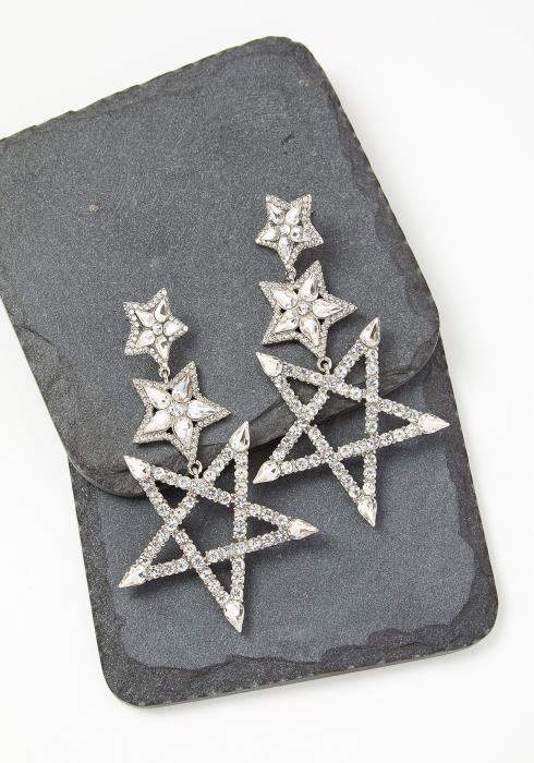 Constellation Diamond Star Drop Earrings