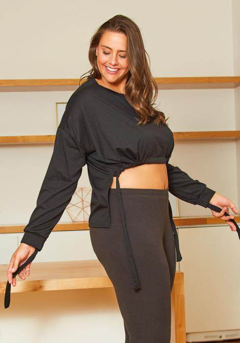 Asoph Plus Size Cropped Sweatshirt