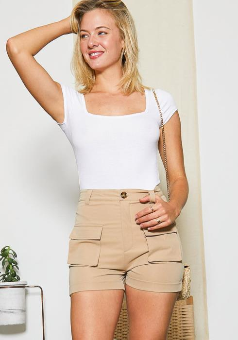 Tansy Everyday Khaki Womens Shorts