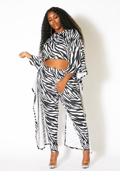 Asoph Plus Size Zebra Set
