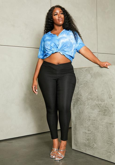 Asoph Plus Size Fitted Skinny Pants