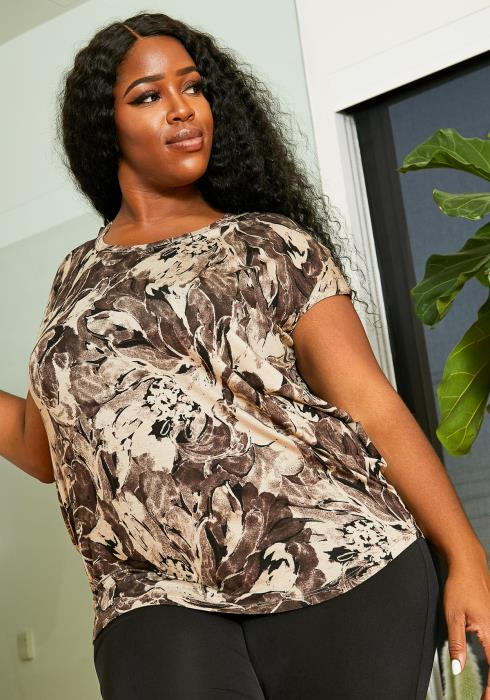 Asoph Plus Size Dry Flower Top