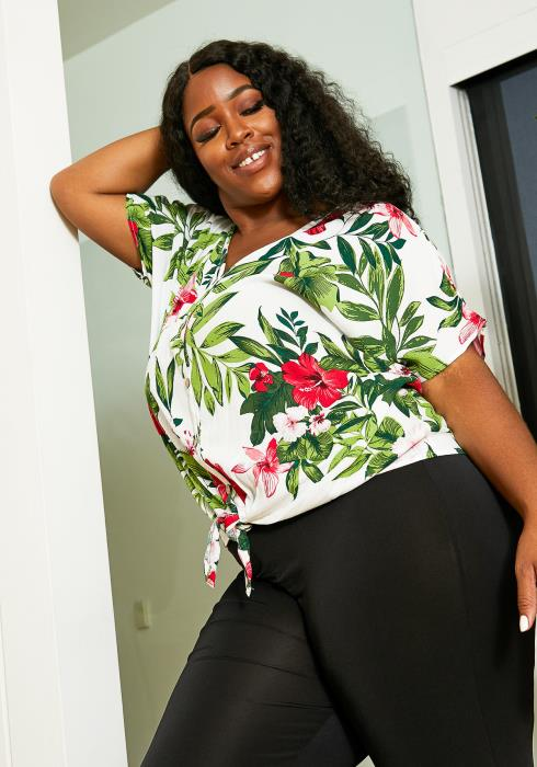 Asoph Plus Size Botanical Garden Blouse