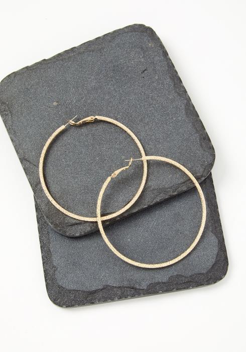 Jette Textured Hoop Earrings
