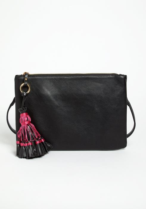 Montier Tassel Crossbody Clutch Bag