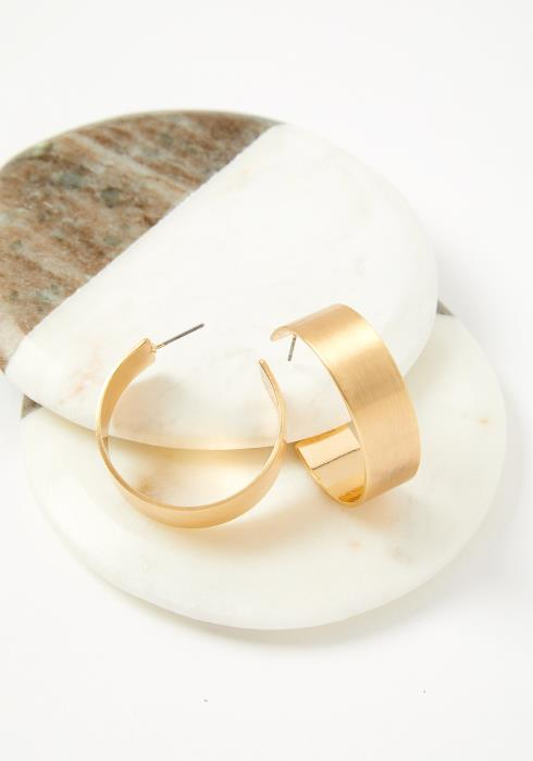 Egypt Metallic Cuff Half Hoop Earrings