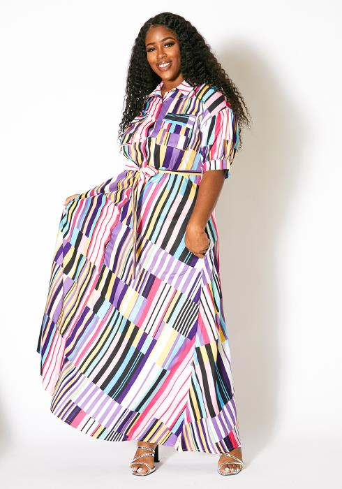 Asoph Plus Size Mosaic Maxi Dress