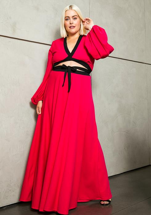 Asoph Plus Size Brilliant Maxi Set